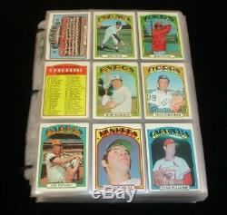 1972 Topps Baseball Complete Set of 787 Overall EX with most High Numbers sharp