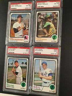 1973 Topps BASEBALL COMPLETE SET Ultimate High Grade NM/MT to MINT PSA 8 9 10