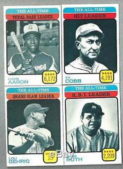 1973 Topps Baseball Complete HIGH GRADE set Nm NM-MT With PSA 8 & 9 GORGEOUS