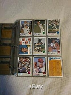 1973 Topps Baseball Complete Set (1-660) EX-NM-MT Kept In Binder. Schmidt RC