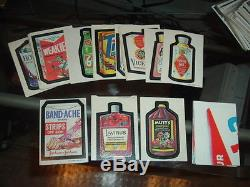 1973 Topps Wacky Packages 1st Series Tan Back Stickers Complete Set with Tandache