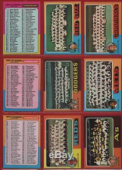 1975 Topps Baseball Complete Set (660) Hi-grade Nm/mt Overall Brett Yount Psa 8