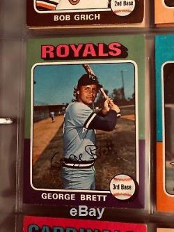 1975 Topps Baseball Complete Set Exmt Mint Brett Yount Rookie Aaron Ryan $600