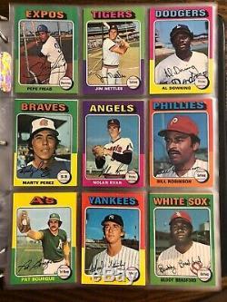 1975 Topps Baseball Complete Set Nrmt Mint Brett Yount Rookie Aaron Ryan Rose