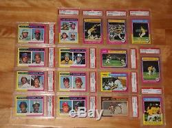 1975 Topps complete set 1-660 All PSA 8 #228 Brett #223 Yount RC #500 Ryan