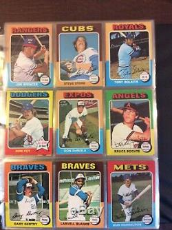 1975 topps baseball cards complete set