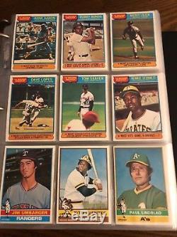 1976 Topps Baseball Complete Set Nrmt Mint Brett Eckersley Rookie Aaron Ryan