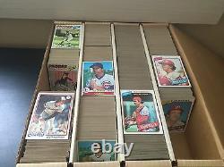1977, 1978, 1979, 1980 Topps Huge Lot (2400) Vintage Baseball Cards -NO CREASES