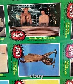 1977 Topps STAR WARS Green Series4 Uncut Sheet withC-3PO Error Card-comp set of 66