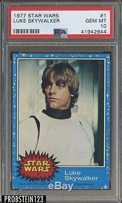 1977 Topps Stars Wars #1 Luke Skywalker PSA 10 TOUGHEST CARD IN SET