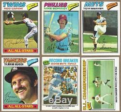 1977 Topps near complete set (659/660 cards) NM