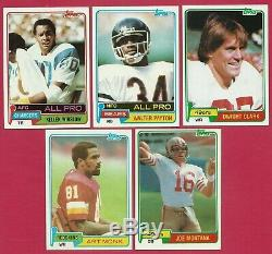 1981 Topps Football Complete Set Montana Monk Clark Rookies 1981 Topps