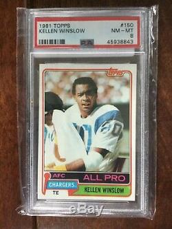 1981 Topps Football Complete Set with RC PSA 8 of Montana, Clark, Monk, & Winslow