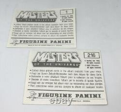 1983 Panini Masters of The Universe complete set 216 stickers + 10 empty packets