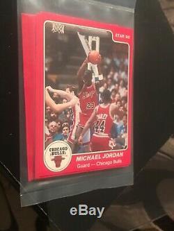 1984-85 Chicago Bulls Star Team Set BAG Pre 1986 Fleer Michael Jordan XRC MINT