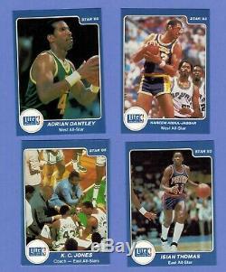 1984-85 Star Company LITE BEER ALL STAR Set Michael Jordan Rookie BGS 7.5 N-MT+