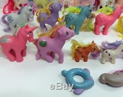 1984 Retired Vintage Hasbro My Little Pony G1 Ponies Lot Set Of 19