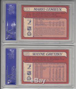 1985-86 Opc Hockey Complete Set 99% Mint + Lemieux Rookie Psa 8 Gretzky Psa 7