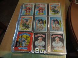 1985-88 Garbage Pail Kids Topps GPK series 1 U. K. 2 to 15 USA complete sets