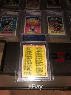 1985 GARBAGE PAIL KIDS CARD Set & Variations Matte PSA 10 GEM 1st series 1 OS1 A