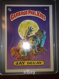 1985 GARBAGE PAIL KIDS ORIGINAL SERIES 1 SET NM 82 Cards in Holders GPK OS1