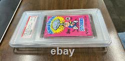1985 Garbage Pail Kids 1st Series Wax Pack. 25c Price PSA 8 NM-MT OS1