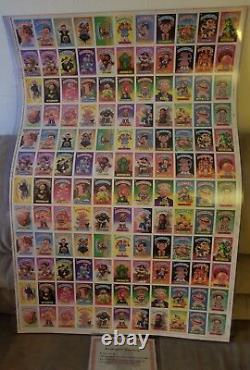 1985 Garbage Pail Kids Series 2 Full Uncut (schizo Fran) Sheet Topps Vault Coa