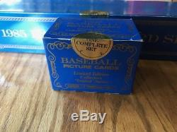 1985 Topps Tiffany Factory & Traded Sealed Sets McGwire Clemens Puckett Rookie