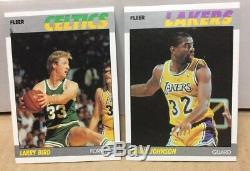 1986 1987-88 1988-89 Fleer Basketball Complete Sets Michael Jordan RC PSA 8.5