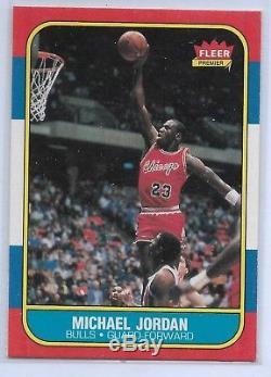 1986-87 FLEER BASKETBALL COMPLETE SET #1-132 MICHAEL JORDAN RC With STICKER SET