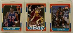 1986-87 Fleer Basketball Complete 132 Card Set + #57 Michael Jordan Rookie PSA 8