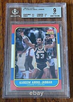 1986-87 Fleer Basketball Complete BGS 9 Base Set and BGS 9 Stickers