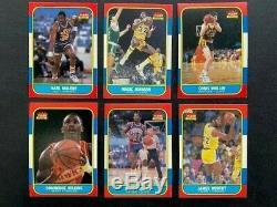 1986-87 Fleer Basketball Complete Set (1-132) Includes Michael Jordan Rookie #57
