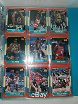 1986-87 Fleer Basketball Complete Set Lot 132/132 + 11/11 Stickers. High End