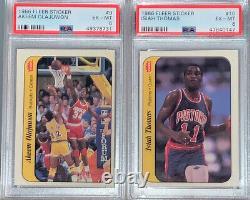 1986-87 Fleer Basketball Complete Sticker Set with Michael Jordan PSA 6