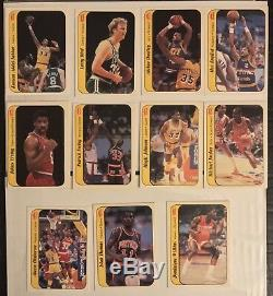 1986-87 Fleer Basketball Near Complete Set No Jordan #57 + Complete Stickers Set