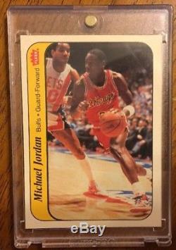 1986-87 Fleer Basketball Set 1/132 Michael Jordan #57 Rookie & Sticker Box Pack
