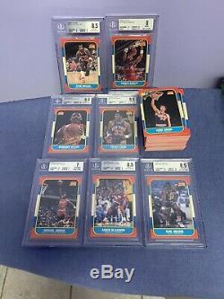 1986-87 Fleer Basketball Set Complete Jordan Ewing Barkley RC Rookie HOF BGS