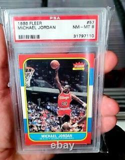 1986-87 Fleer Basketball complete set PSA 8 Jordan #57 Rookie RC