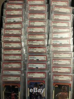 1986-87 Fleer Complete Set 132/132- PSA 7 MICHAEL JORDAN RC- 37 PSA 7s! RARE