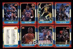 1986-87 Fleer Complete Set + Sticker Set with MICHAEL JORDAN Rookie RC PSA 8