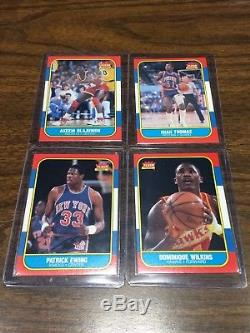 1986-87 Fleer Complete Set with Stickers JORDAN Rookie RC PSA 8, Malone PSA 8.5