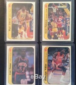 1986-87 Michael Jordan Fleer Set 1-132 & Stickers Set 1-11 Jordan Bgs 8 Rookie
