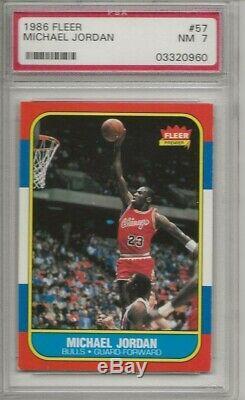 1986 Complete Fleer Basketball Set 1-132 with CENTERED Michael Jordan PSA 7 RC