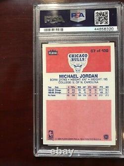 1986 Fleer Basketball #57 Michael Jordan Rookie Card Set/lot Psa 7 Near/mint
