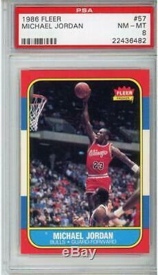 1986 Fleer Basketball Complete 132 Card PSA 8 Set Michael Jordan Rookie
