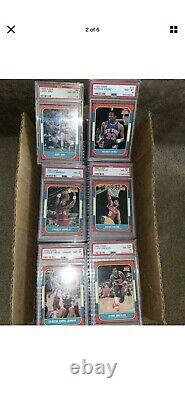 1986 Fleer Basketball Complete PSA 8 Graded Set Jordan RC 132/132