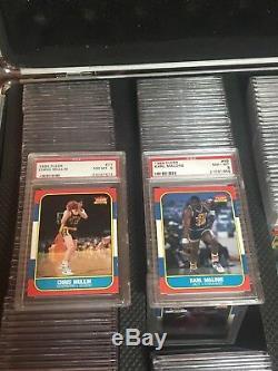 1986 Fleer Basketball Complete Set 131/132 no 57 Jordan ALL Graded PSA 8! HOF