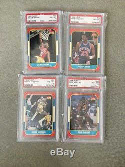 1986 Fleer Basketball Complete Set PSA 8 Michael Jordan RC 132/132 All Star NQ