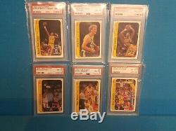 1986 Fleer Basketball Complete Set PSA 8 with Stickers Michael Jordan ROOKIE NQ